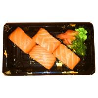 536. California 4ks: Úhoř a avokádo obalené rýží a plátky lososa